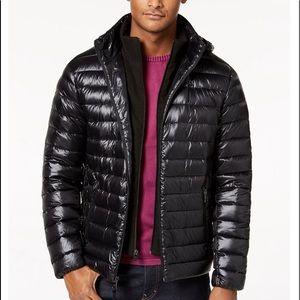 Calvin Klein Men's Packable Down Hooded Jacket. M